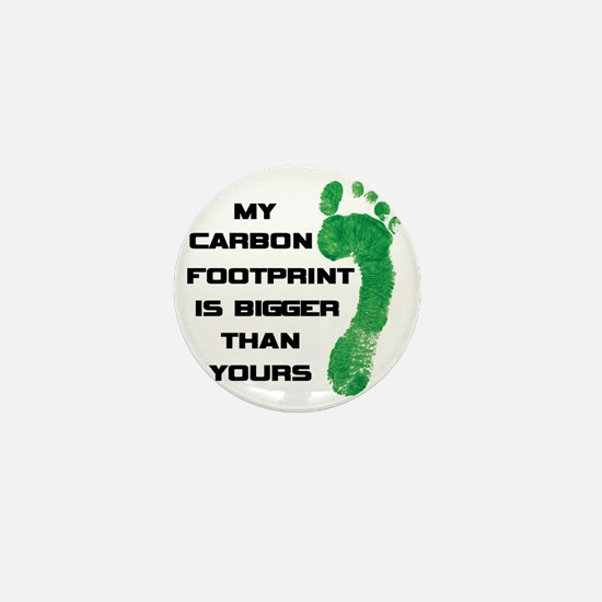 my carbon footprint Mini Button