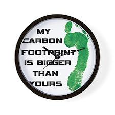 my carbon footprint Wall Clock