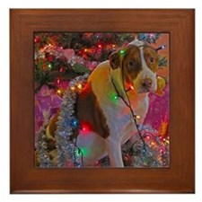 Merry Christmas Mixed Breed Framed Tile