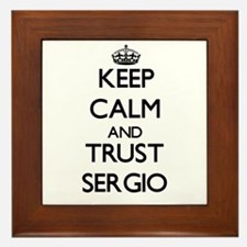Keep Calm and TRUST Sergio Framed Tile