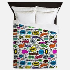 Comic Book Queen Duvet