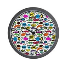 Comic Book Wall Clock