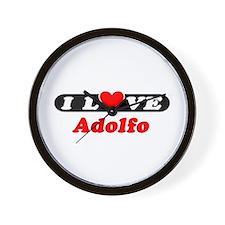 I Love Adolfo Wall Clock