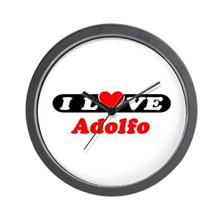 I Love Adolfo Wall Clock