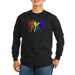Rainbow of Dancers Long Sleeve Dark T-Shirt