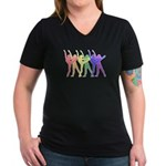 Dancers Women's V-Neck Dark T-Shirt