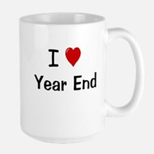 I Love Year End Financial Accounting Mugs