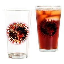 World on Fire Drinking Glass