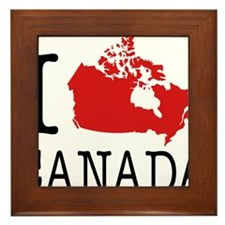 I Love Canada 1 Framed Tile