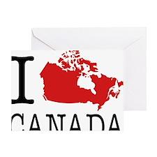 I Love Canada 1 Greeting Card