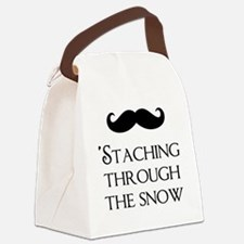 Staching Through The Snow Canvas Lunch Bag