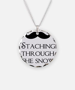 Staching Through The Snow Necklace