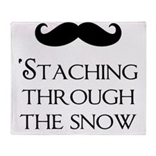 Staching Through The Snow Throw Blanket