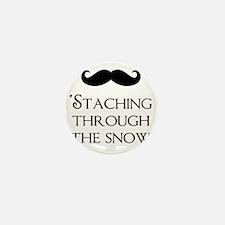Staching Through The Snow Mini Button