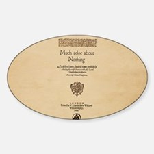 Folio-MuchAdoAboutNothing-men Sticker (Oval)