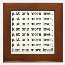 One More Level Tee Framed Tile