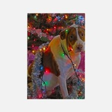 Merry Christmas Mixed Breed Rectangle Magnet