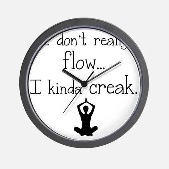 Flow or creak? Wall Clock