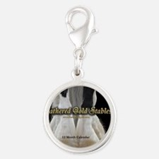2013 Feathered Gold Gypsy Hors Silver Round Charm