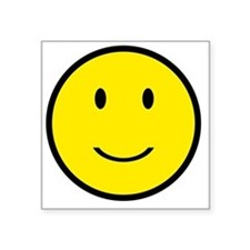 """Happy Face Smiley Square Sticker 3"""" x 3"""""""