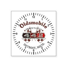 """Olds 442 Square Sticker 3"""" x 3"""""""