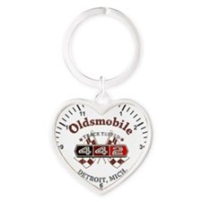 Olds 442 Heart Keychain