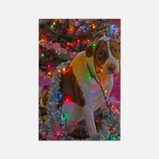 Merry Christmas Mutt Rectangle Magnet