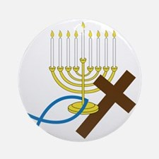 Jewish And Christian Round Ornament