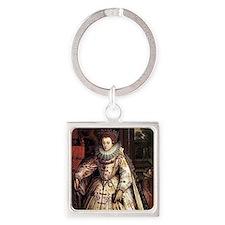 Elizabeth I Square Keychain
