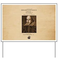 Shakespeare First Folio Yard Sign