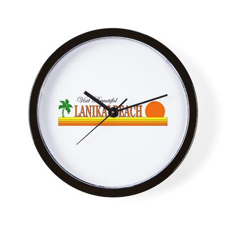 Visit Beautiful Lanikai Beach Wall Clock
