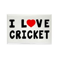 I Love Cricket Rectangle Magnet