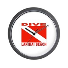 Dive Lanikai Beach, Hawaii Wall Clock