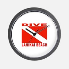 Dive Lanikai Beach, Hawaii Wall Clock