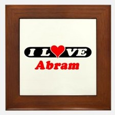 I Love Abram Framed Tile