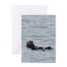 Alaskan Sea Otter Kindle Hard Case Greeting Card