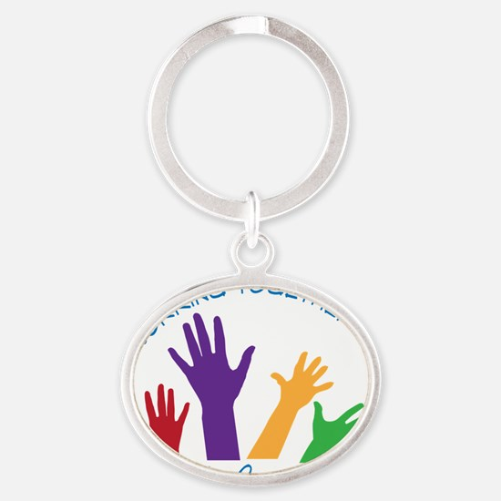 Social Work Oval Keychain