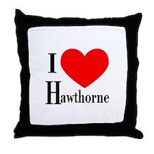 I Love Hawthorne Throw Pillow
