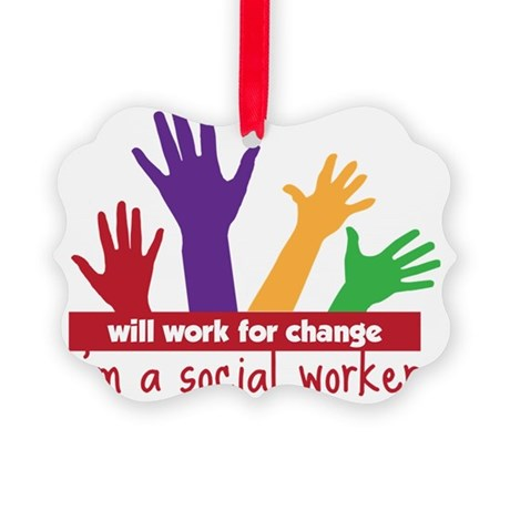 Work For Change Picture Ornament