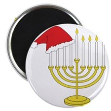 Hanukkah And Christmas Magnet