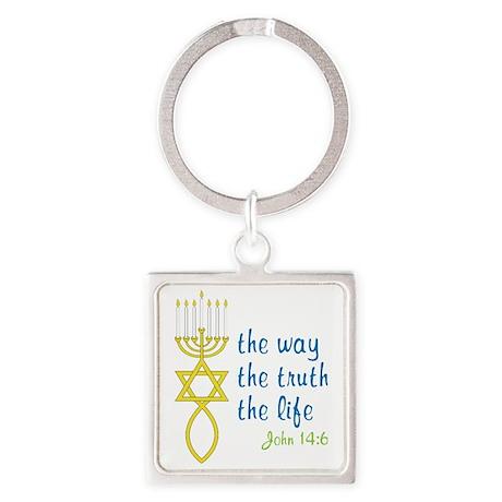 John 14:6 Square Keychain