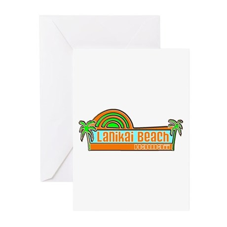 Lanikai Beach, Hawaii Greeting Cards (Pk of 10