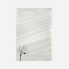 duvet twin_Winter Tree White Rectangle Magnet