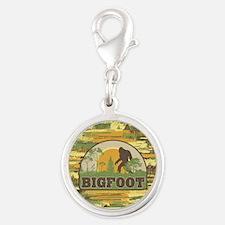 Bigfoot Silver Round Charm