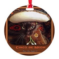 Caballero Cat Ornament