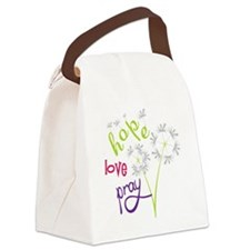Hope Love Pray Canvas Lunch Bag