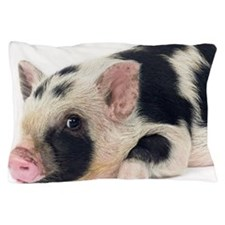 Micro pig chilling out Pillow Case