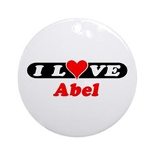 I Love Abel Ornament (Round)