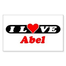 I Love Abel Rectangle Decal