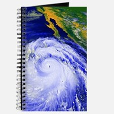 Coloured satellite image of Hurricane Lind Journal